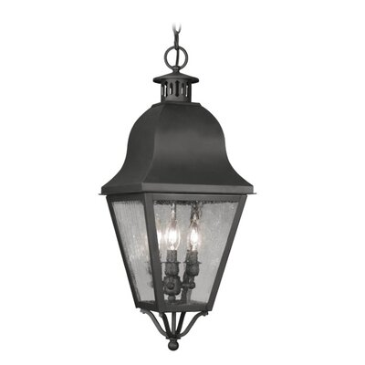 Livex Lighting Amwell 3 Light Outdoor Hanging Lantern