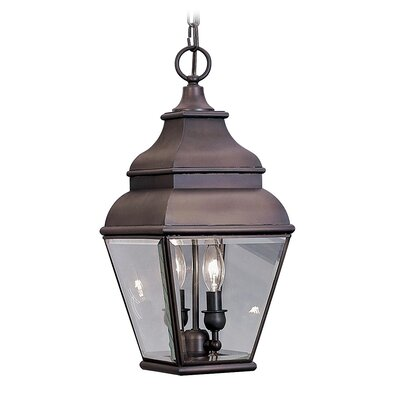 Livex Lighting Exeter 2 Light Outdoor Hanging Lantern