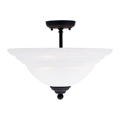 Livex Lighting North Port 3 Light Semi Flush Mount