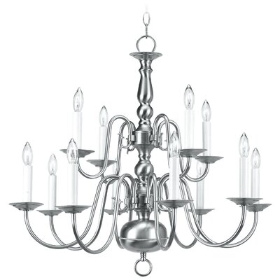 Livex Lighting Williamsburg 12 Light Chandelier