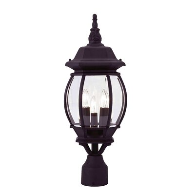 "Livex Lighting Frontenac 3 Light 8"" Outdoor Post Lantern"