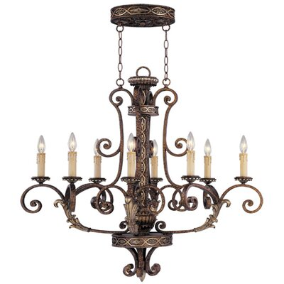 Livex Lighting Seville 8 Light Oval Chandelier