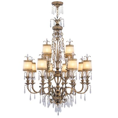 Livex Lighting La Bella 12 Light Chandelier