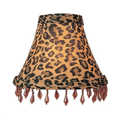 Livex Lighting Leopard Print Silk Chandelier Shade with Amber Beads