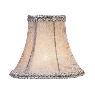Livex Lighting Floral Print Bell Clip Chandelier Shade in Taupe