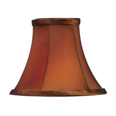 Livex Lighting Bell Clip Silk Chandelier Shade in Brown