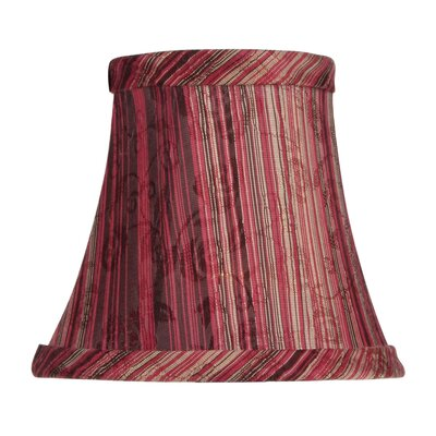 Livex Lighting Striped Silk Bell Clip Chandelier Shade in Burgundy