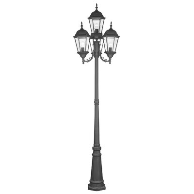 "Livex Lighting Hamilton 4 Light 95"" Outdoor Post Lantern Set"