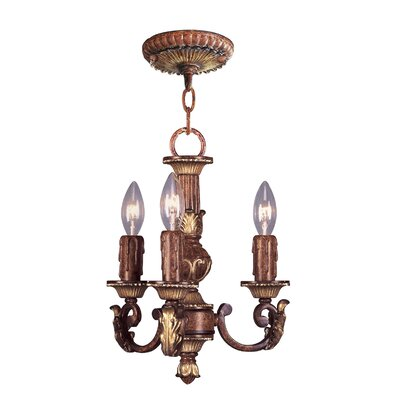 Livex Lighting Villa Verona 3 Light Mini Chandelier