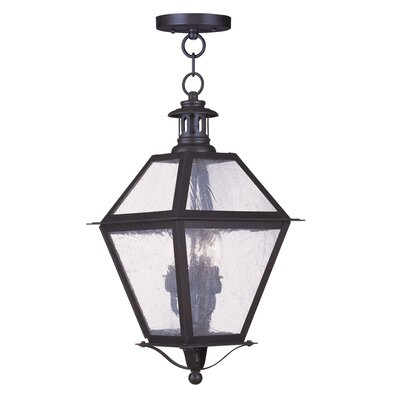 Livex Lighting Waldwick 3 Light Outdoor Hanging Lantern