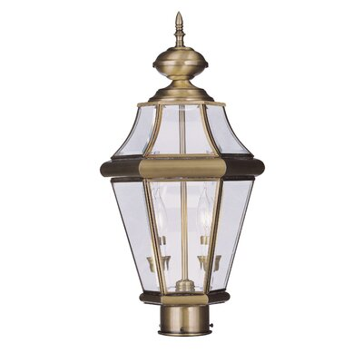 Livex Lighting Georgetown 2 Light Outdoor Post Lantern