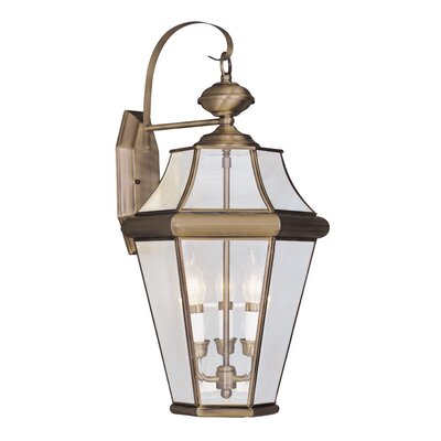 Livex Lighting Georgetown 3 Light Outdoor Wall Lantern