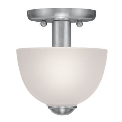 Livex Lighting Somerset 1 Light Semi Flush Mount