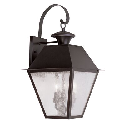 Livex Lighting Mansfield 3 Light Outdoor Wall Lighting