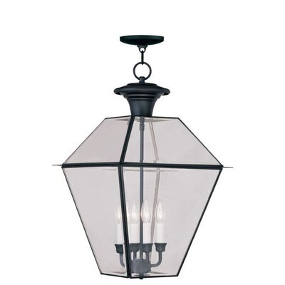 Livex Lighting Westover 4 Light Outdoor Hanging Lantern
