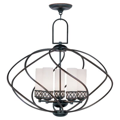 <strong>Livex Lighting</strong> Westfield 5 Light Chandelier