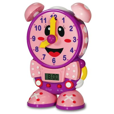 The Learning Journey Telly the Teaching Time Clock - Pink Design