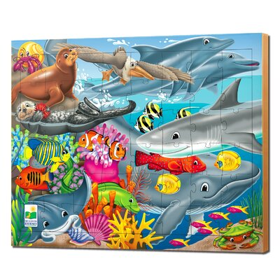 48 Piece Lift and Discover Jigsaw Puzzle - Creatures of the Sea