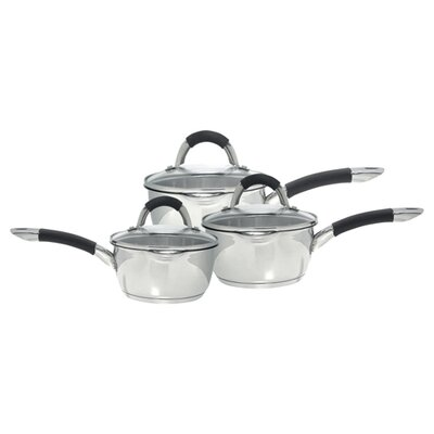 Ready Steady Cook Bistro 3 Piece Saucepan Set