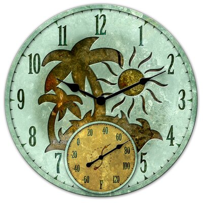 Tropical Island Clock with 5