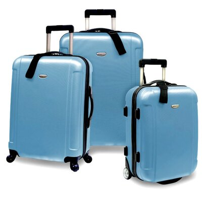 Traveler's Choice Freedom 3pc Lightweight Hard Shell Spinning/Rolling Travel Collection in ...