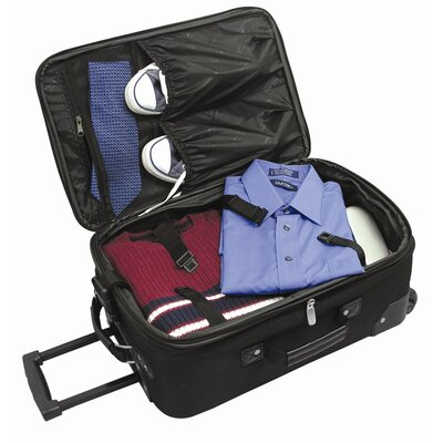 Traveler's Choice Amsterdam Expandable Rolling Carry - On in Burgundy