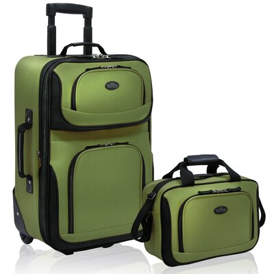 Traveler's Choice Rio 2 Piece Carry On Luggage Set