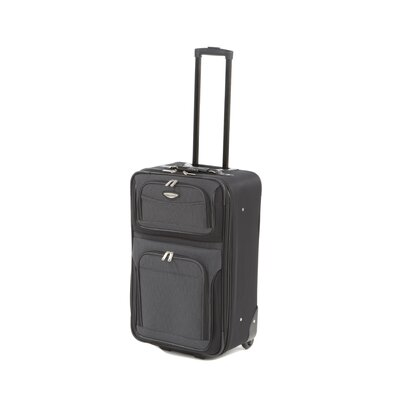 "Traveler's Choice Amsterdam 25"" Two-Tone Expandable Rolling Suitcase in Gray"