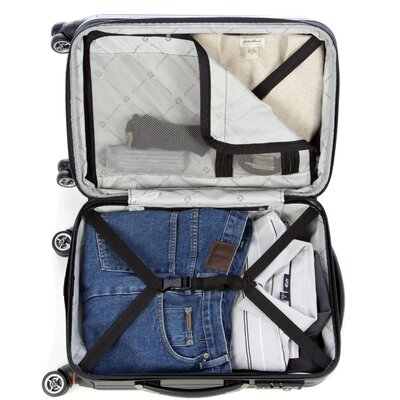 "Traveler's Choice Tasmania 21"" Hardsided Expandable Spinner Suitcase"