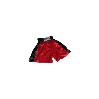 Amber Sporting Goods Boys Boxing Shorts in Red with Black Trim