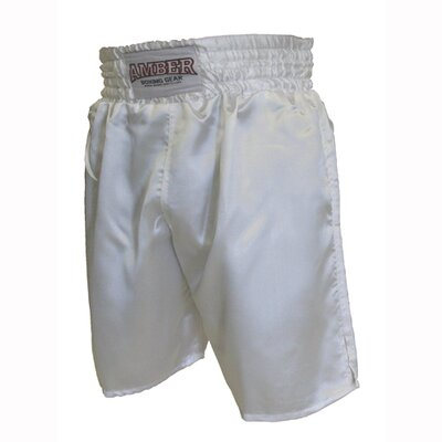 Amber Sporting Goods Boxing Shorts in Solid White