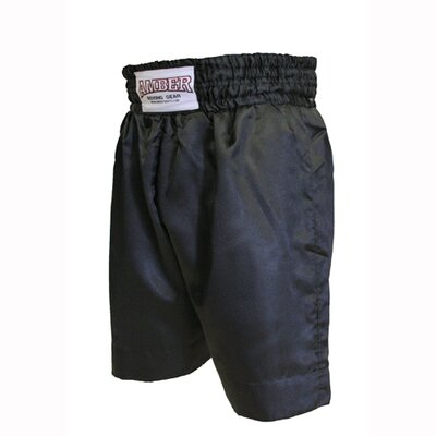 Amber Sporting Goods Boxing Shorts in Solid Black