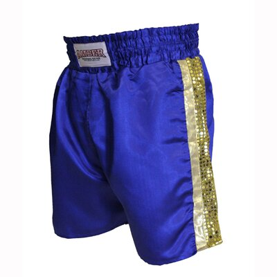 Mexican Style Boxing Shorts in Blue