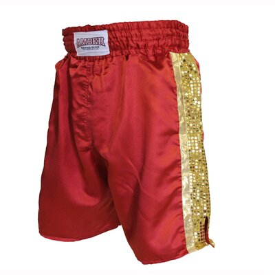 Amber Sporting Goods Mexican Style Boxing Shorts in Red