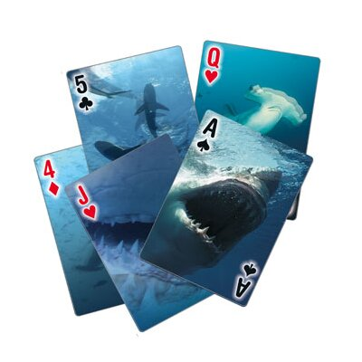Kikkerland Shark Playing Cards