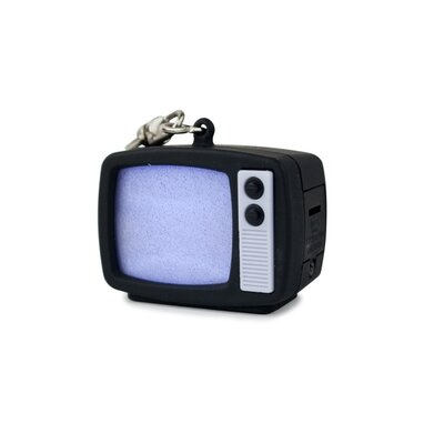 Kikkerland TV Static LED Keychain on Card