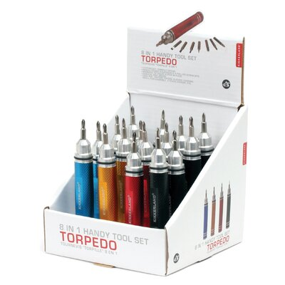 Kikkerland Torpedo Screwdriver Set