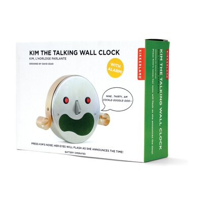 Kikkerland Talking Kim Alarm Clock