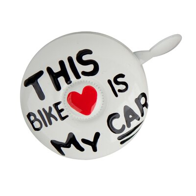 Kikkerland Dring My Bike is My Car Bike Bell