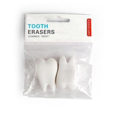 Kikkerland Wisdom Tooth Erasers (Set of 2)