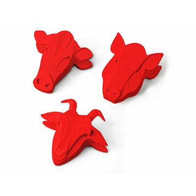 Kikkerland Animal Farm Bag Clips / Magnets (Set of 3)