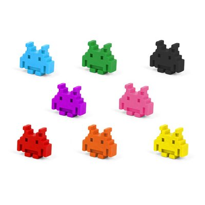 Kikkerland Space Invader Crayons (Set of 8)