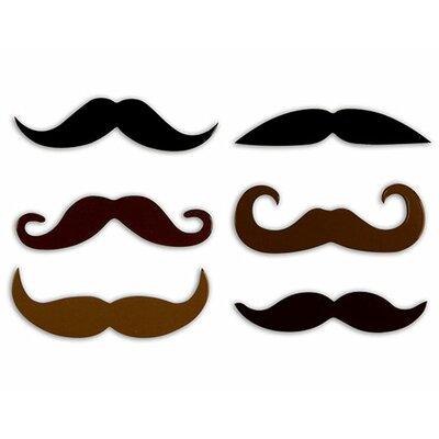 Kikkerland Mustache Rubber Magnets