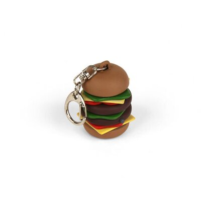 Kikkerland Burger Key Chain