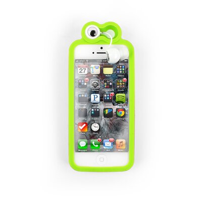 Froggy iPhone 5 Case with Earbuds