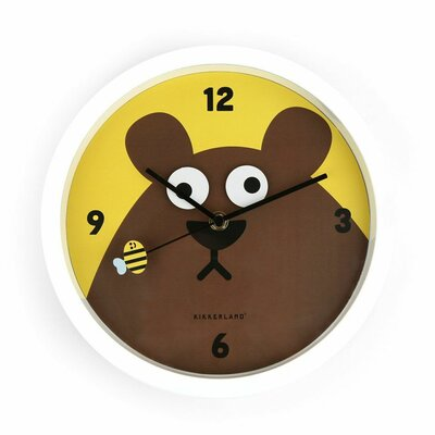 Kikkerland Googly Bear Wall Clock