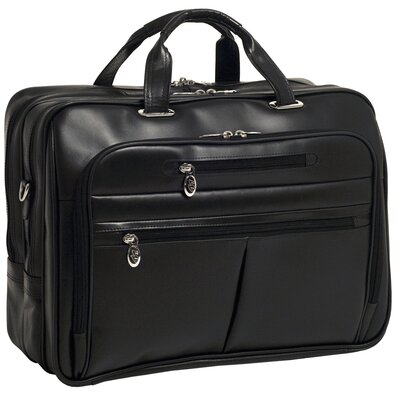 R Series Rockford Leather Laptop Briefcase
