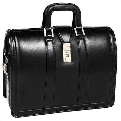 McKlein USA V Series Morgan Litigator Leather Laptop Briefcase