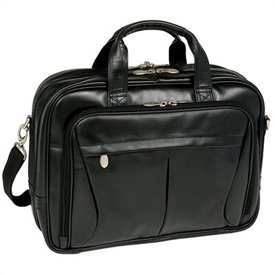 R Series Pearson Leather Expandable Briefcase in Black