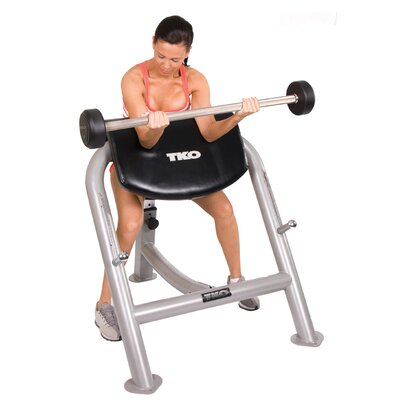 TKO Sports Commercial Preacher Curl Bench
